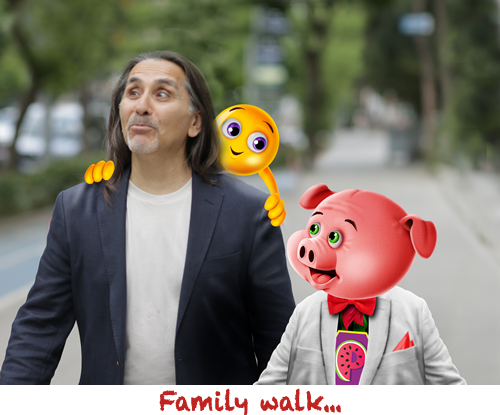 Family Walk Pigmelon GD Smiles and Different