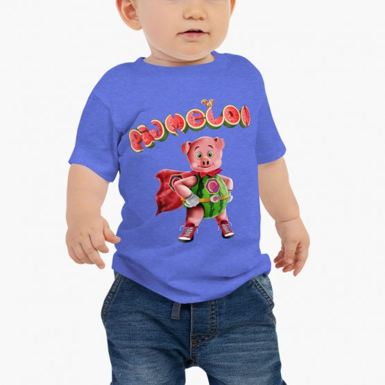 Pigmelon Essentials Baby Short Sleeve T-shirt Columbia Blue