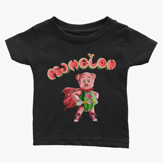 Pigmelon Essentials Infant Short Sleeve Tees Black