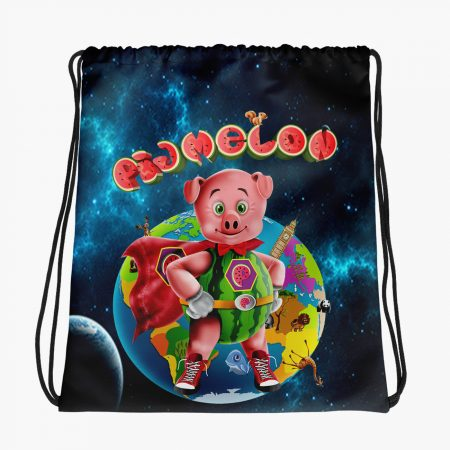 Pigmelon Earth Line Drawstring Bags