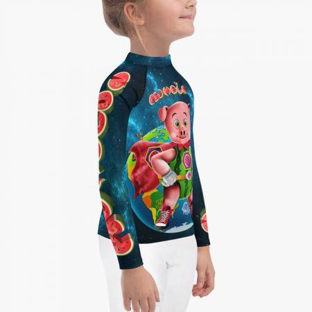 Pigmelon Earth Line Kids Long Sleeve T-shirt