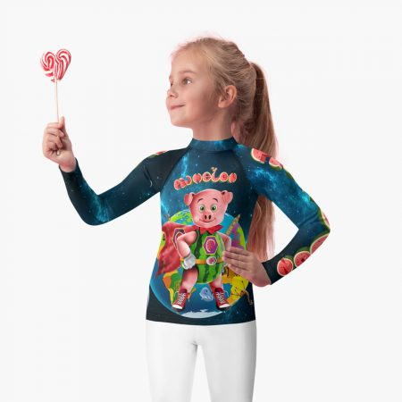Pigmelon Earth Line Kids Long Sleeve T-shirt