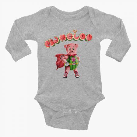 Pigmelon Essentials Long Sleeve Baby Bodysuit Heather