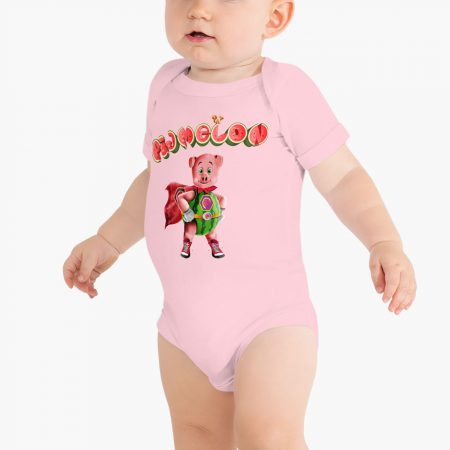 Pigmelon Essentials Short Sleeve Baby Bodysuit Pink