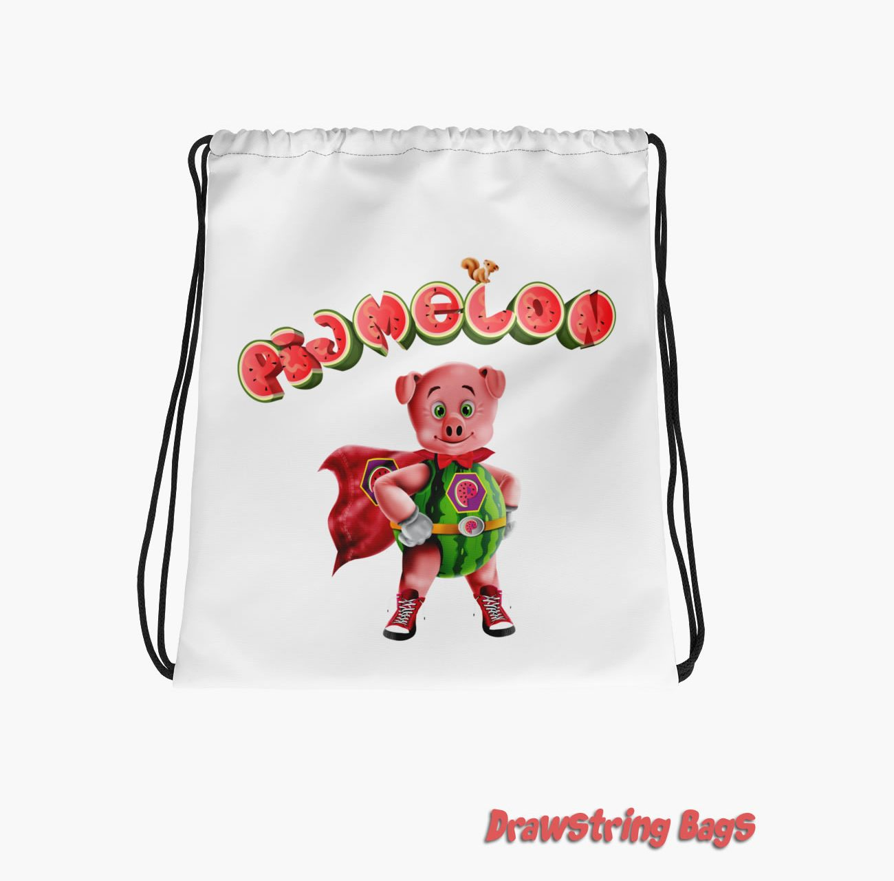 Pigmelon Drawstring Bags