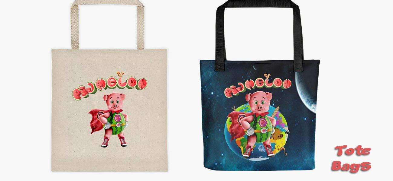 Pigmelon Tote Bags