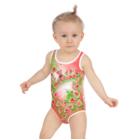 Pigmelon Cute Kids Bathing Suit for Girls - Red