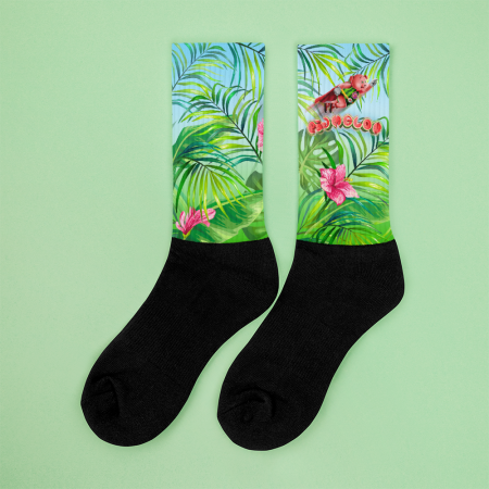 Pigmelon Funny Crazy Socks for Kids and Children - Green