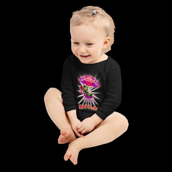 Pigmelon Long Sleeve Baby Onesie - Cool