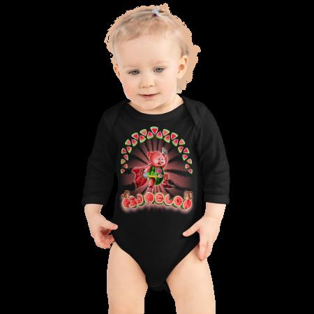Pigmelon Long Sleeve Baby Onesie - Hero
