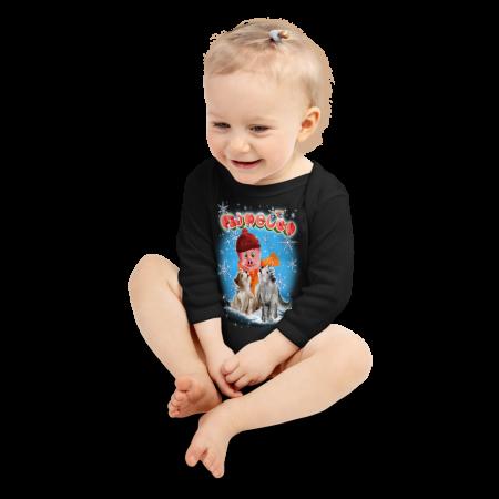 Pigmelon Long Sleeve Baby Onesie - Mystery