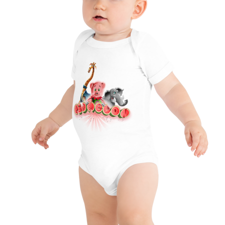 Pigmelon Short Sleeve Bodysuit for Babies - Friends