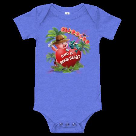 Pigmelon Short Sleeve Bodysuit for Babies - Heart