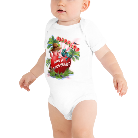 Pigmelon Short Sleeve Bodysuit for Babies - Heart