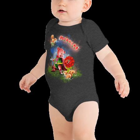 Pigmelon Short Sleeve Bodysuit for Babies - Middlemist