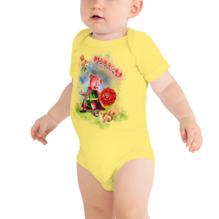 Pigmelon Short Sleeve Bodysuit for Babies - Middlemist