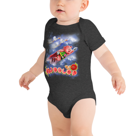 Pigmelon Short Sleeve Bodysuit for Babies - Storks