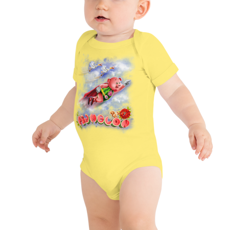 Pigmelon Short Sleeve Bodysuit for Babies - Storks