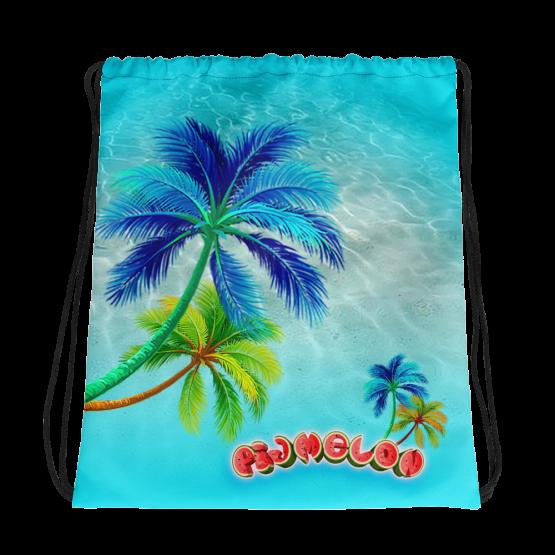 Pigmelon Small Drawstring Bag for Kids - Green