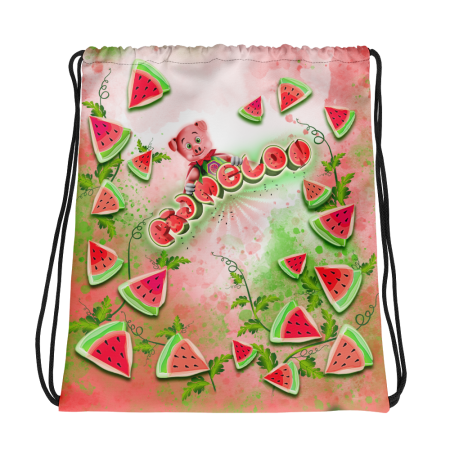 Pigmelon Small Drawstring Bag for Kids - Red