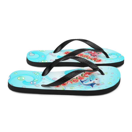 Pigmelon Youth Fancy Flip Flop Sandals - Blue