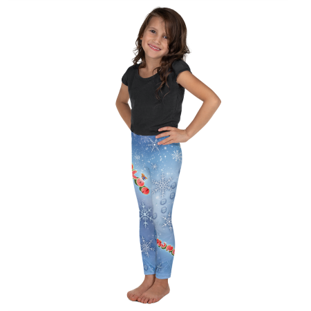 Pigmelon Kid and Toddler Leggings for Girls - Blue
