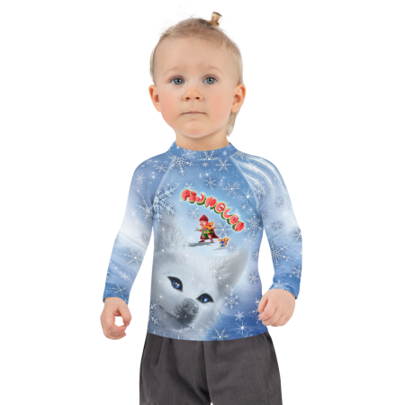 Pigmelon Long Sleeve Rash Guard Shirts for Children – Blue