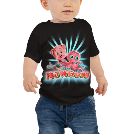 Pigmelon Unique Graphic Short Sleeve T-Shirt for Babies - Acto