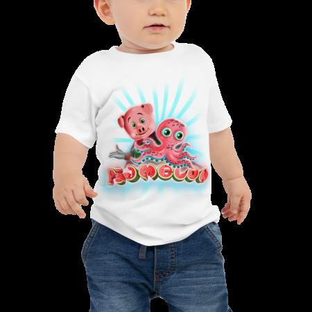 Pigmelon Unique Graphic Short Sleeve T-Shirt for Babies - Acto