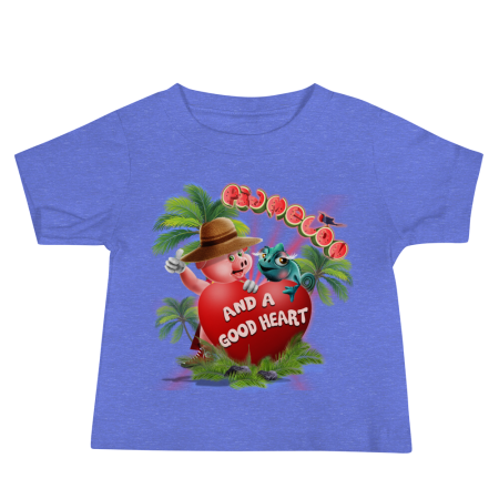 Pigmelon Unique Graphic Short Sleeve T-Shirt for Babies - Heart