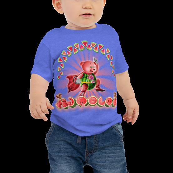 Pigmelon Unique Graphic Short Sleeve T-Shirt for Babies - Hero