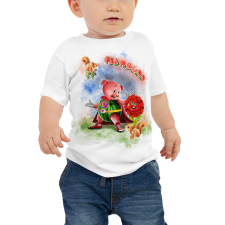 Pigmelon Unique Graphic Short Sleeve T-Shirt for Babies - Middlemist