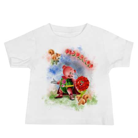 Pigmelon Unique Graphic Short Sleeve T-Shirt for Babies - Middlemist