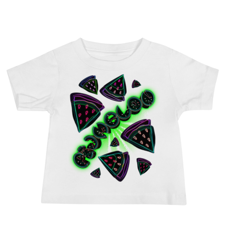 Pigmelon Unique Graphic Short Sleeve T-Shirt for Babies - Slices