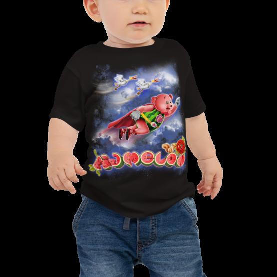 Pigmelon Unique Graphic Short Sleeve T-Shirt for Babies - Storks